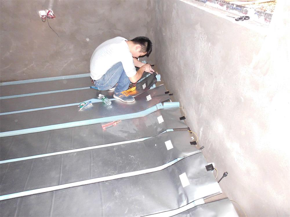 Heating system for concrete floor in ShiChuan, China